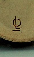 Signature of Otto Lindig  ( worked in bottom of plasterform for the three coffeepots;  here : moccapot)